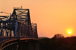 Most przy zmierzchem Obraz Royalty Free