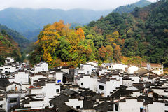 The most round village in China , Jujing village. Located in Wuyuan county , Shangrao  city, Jianxi Province, China Stock Images