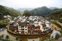 The most round village in China , Jujing village. Located in Wuyuan county , Shangrao  city, Jianxi Province, China Stock Image