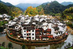 The most round village in China , Jujing village. Located in Wuyuan county , Shangrao  city, Jianxi Province, China Stock Photos