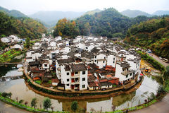The most round village in China , Jujing village. Located in Wuyuan county , Shangrao  city, Jianxi Province, China Royalty Free Stock Images