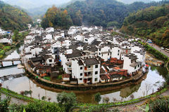 The most round village in China , Jujing village. Located in Wuyuan county , Shangrao  city, Jianxi Province, China Stock Photography