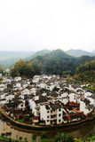 The most round village in China , Jujing village. Located in Wuyuan county , Shangrao  city, Jianxi Province, China Royalty Free Stock Photo