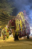 The most sacred elephant at the Kataragama Festival in Sri Lanka parades through the arena. Stock Images