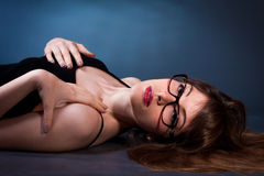 Most seductive woman in suglasses Stock Photo