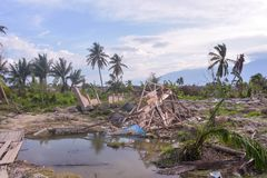 The Most Severe Damage Earthquake Liquefaction Petobo Central Sulawesi. The Most Severe Damage. Earthquake Liquefaction in the village of Petobo, sub-district of royalty free stock images