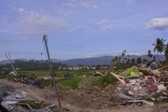The Most Severe Damage Earthquake Liquefaction Petobo Central Sulawesi. The Most Severe Damage. Earthquake Liquefaction in the village of Petobo, sub-district of royalty free stock photography
