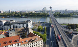 The Most SNP bridge in Bratislava, Slovakia Royalty Free Stock Images