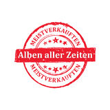 The most sold Music album all the time German language label / badge. The most sold Music album all the time German language: Meistverkauften Alben aller zeiten vector illustration
