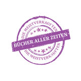 The most sold product of all time German language stamp Royalty Free Stock Image