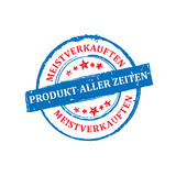 The most sold product of all time German language stamp Royalty Free Stock Photos