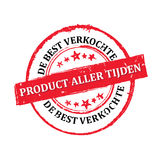 The most sold product all times Dutch language Royalty Free Stock Photos
