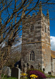 St Wynwallow Church Cornwall. The most southerly church in mainland Britain, St Wynwallow's at Church Cove on the Lizard dates back to the sixth century Stock Image