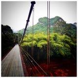 Most Stary zniszczony most Fotografia Royalty Free
