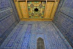 Khiva, Uzbekistan, Silk Route. Most sumptuous interior decoration of the Tosh-Hovli palace in Khiva in the Silk Road, adventure, chiva, xorazm, region, central stock images