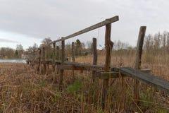 most tęsk drewniany Zdjęcia Royalty Free