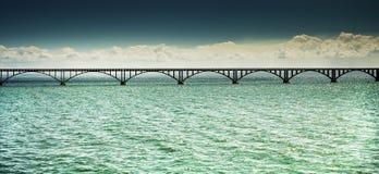 most tęsk nad morzem Zdjęcie Stock