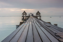 most tęsk nad morzem Obraz Stock