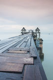 most tęsk nad morzem Obrazy Royalty Free