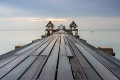 most tęsk nad morzem Fotografia Royalty Free