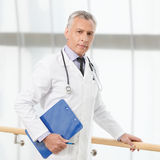 The most talented and professional doctor. Confident mature doct Royalty Free Stock Image