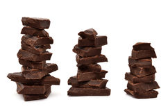 The most tasty chocolate. Isolated on a white background Stock Photo