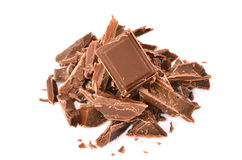 The most tasty chocolate. Isolated on a white background Stock Photography