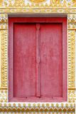 Thai Temple Window. Most of Thai temple are use red wood window Royalty Free Stock Image