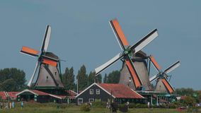 Most typical landmark in the Netherlands - the Windmills - Amsterdam - The Netherlands - July 19, 2017 stock video footage