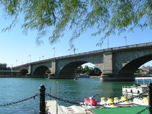 London Bridge over the Colorado River. Original London Bridge at Lake Havasu Royalty Free Stock Photos
