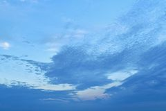 Most of the upper left corner of the firmament, clean, free from clouds. stock image