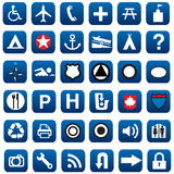 Most useble icons and signs Royalty Free Stock Photo