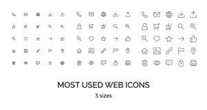 Most used webdesign icons, ui set Stock Image