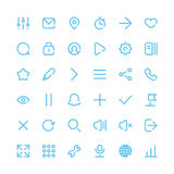 Most Useful Web and Mobile Icons for Interfaces. Stock Photos