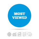 Most viewed sign icon. Most watched symbol. Royalty Free Stock Photography
