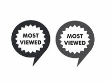 Most viewed sign icon,Most viewed symbol web icon Stock Images