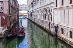 most Włoch wzdycha Wenecji zdjęcia stock