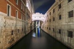 most Włoch wzdycha Wenecji obraz royalty free