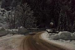 Most w alps przy nocą zdjęcie royalty free