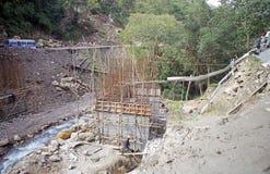 Most w blaszecznicy dolinie, Bhutan Zdjęcie Stock