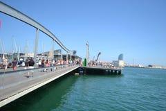 Most w centrum Barcelona Obrazy Stock