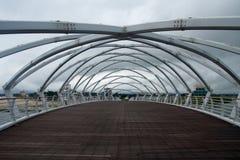 Most w chmurnym dniu Zdjęcia Royalty Free