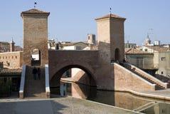 Most w Comacchio, Włochy Obrazy Stock