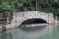 Most w El Yunque lasu państwowego parku, Puerto Rico Zdjęcia Royalty Free