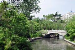 Most w forestï ¼ ˆDaming Jeziorny Parkï ¼ ‰ zdjęcie royalty free