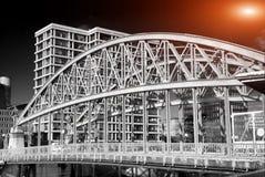 Hamburg i swój mosty Obrazy Royalty Free