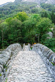 Most w Lavertezzo, Verzasca dolina Obraz Stock