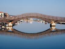 Most w Lefkada miasteczku Zdjęcie Stock