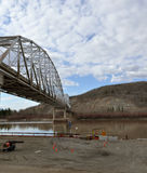 Most w Nenana Alaska fotografia royalty free
