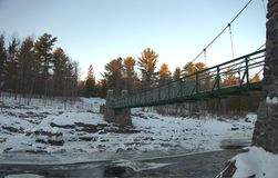 Most w śniegu Obraz Stock